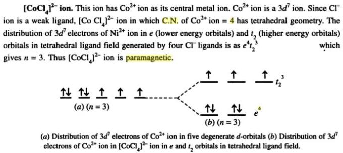 1f [CoCl4]2- is paramagnetic