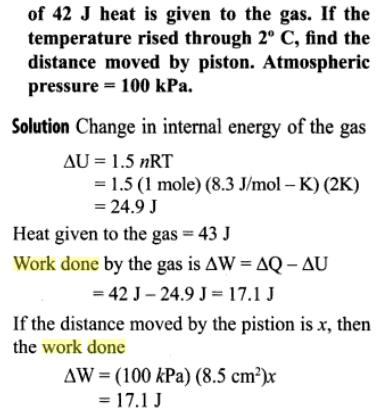 1f internal energy of a mono atomic gas
