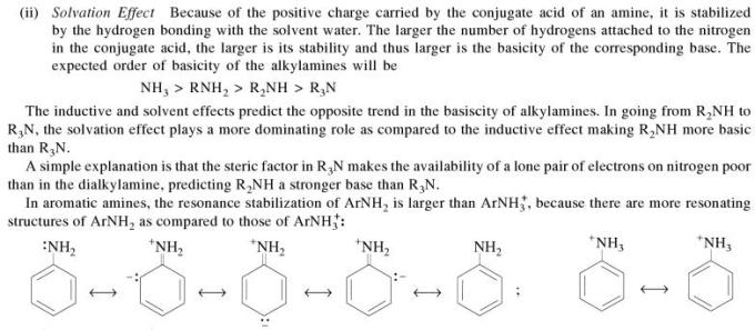 1g Solvation effect on basicity of amines