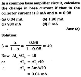 1i In a common base amplifier circuit calculate