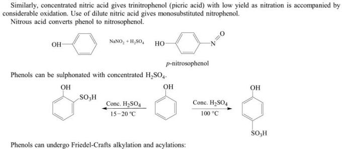 1j concentrated nitric acid gives trinitrophenol