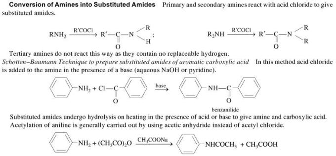 1j Conversion of Amines into substituted Amides