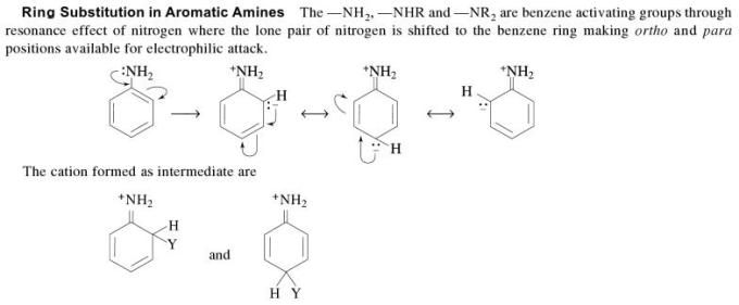 1k Ring substitution in Aromatic Amines