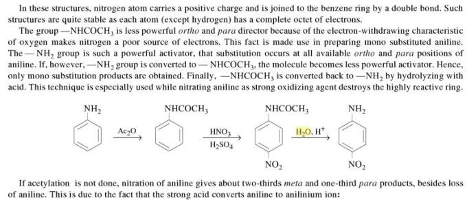 1l Ring substitution in Aromatic Amines