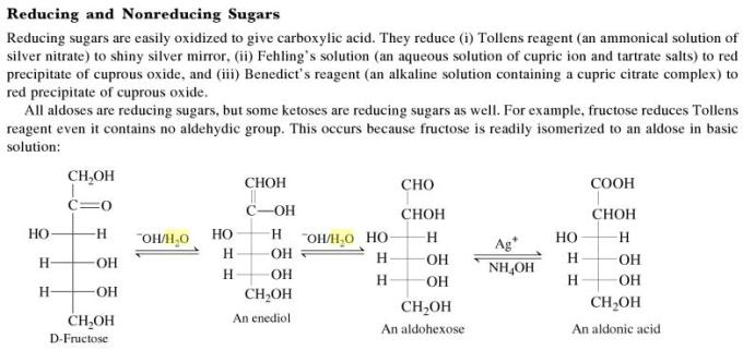 1m Reducing and nonreducing Sugars
