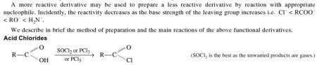 1o Reactivity of Acyl Derivatives