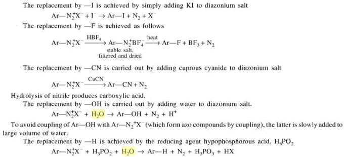 1p replacement reactions in amines