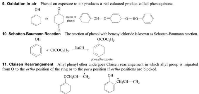 1q Schotten Baumann reaction Claisen rearrangement