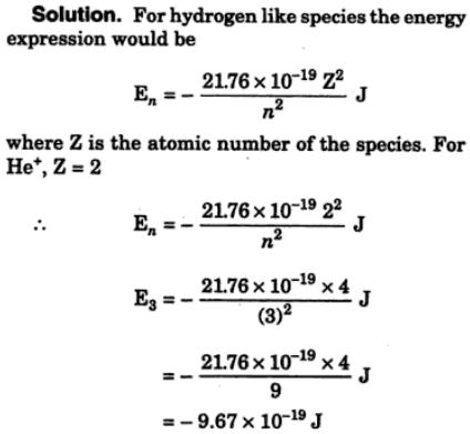 2 According to Bohr's electronic energy of Hydrogen