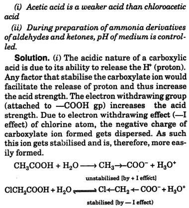 2 Acetic acid is a weaker acid 1