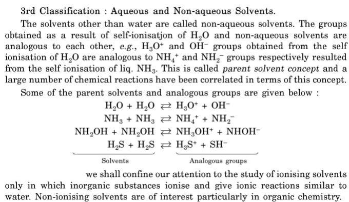 2 aqueous and non aqueous solvents