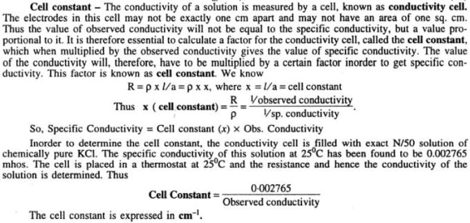 2 Cell constant