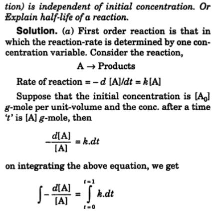 2 Derive the equation for rate constant