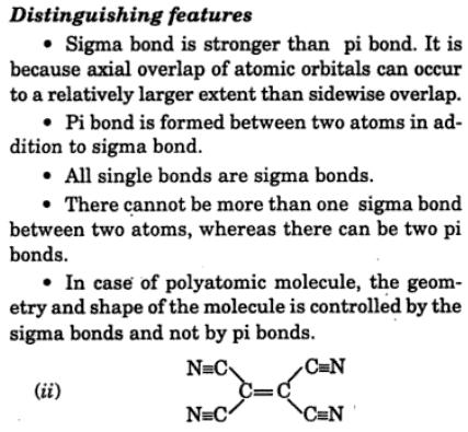 2 difference between sigma and Pi bond