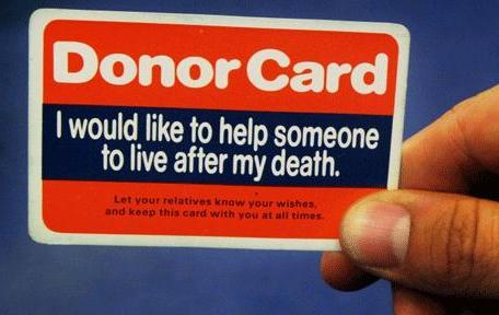 2 Donor Card be a organ donor