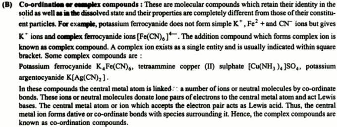 2 Double salts or Lattice compounds