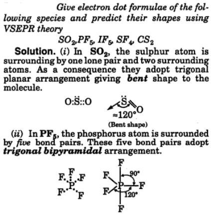2 electron dot formula VSEPR theory