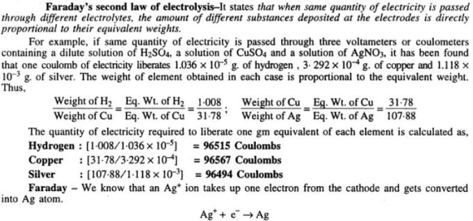 2 Faraday's Law of electrolysis