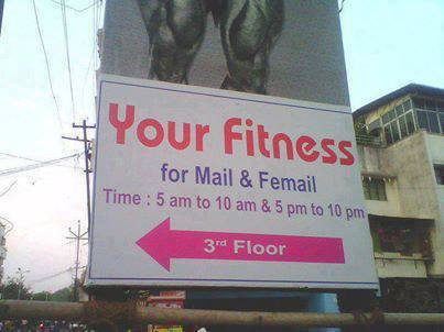2 Fitness ad for male female