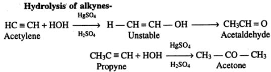 2 Hydrolysis of Alkynes