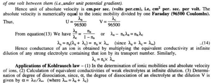 2 Kohlrausch's Law