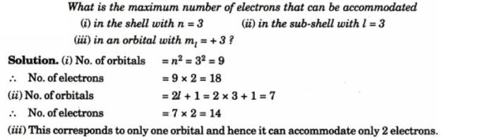 2 Maximum number of electrons that can be accomodated