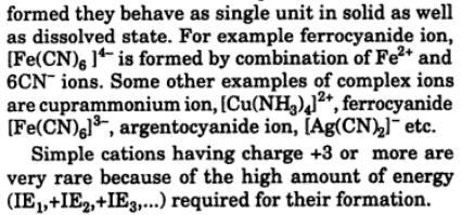 2 simple ion, complex ion, polyatomic ion