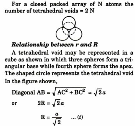 2 tetrahedral void closed packed array of N atoms