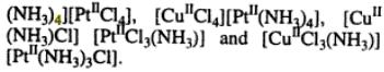 2 Total number of Isomers for the complex CuII(NH3)4[PtIICl4]