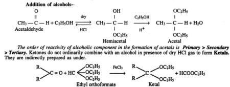 2 Various reactions of Aldehydes