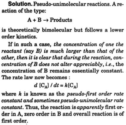 2 what is pseudo-unimolecular reaction