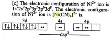 2 which Nickel Ni is dsp2 hybridized