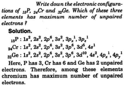 2 write down the electronic configurations of