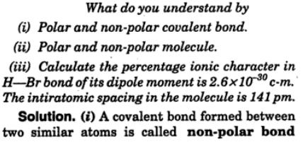20 polar and no polar covalent bond