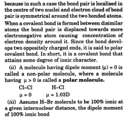 21 polar and no polar covalent bond