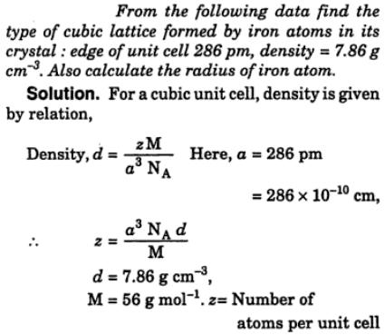 21 type of cubic lattice forrmed by Iron atoms