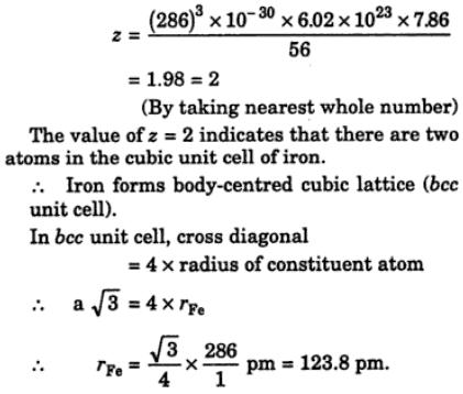 22 type of cubic lattice forrmed by Iron atoms