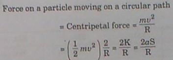 261b KE of a particle moving along a circle
