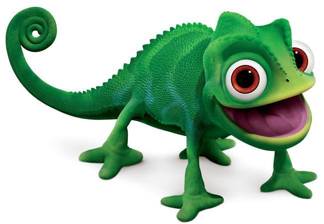 26a Green lizard cartoon