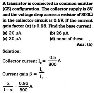 2a A transistor is connected in a common emitter