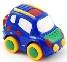 2e Blue toy car
