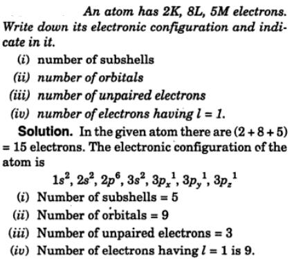 3 An atom has 2K 8l 5 M electrons write electronic structures