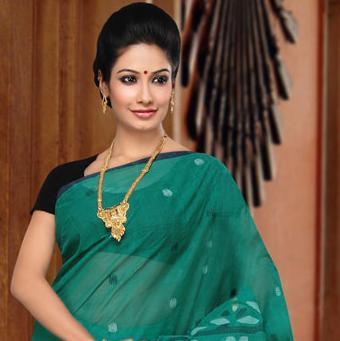 3 Beautiful girl in green Sari