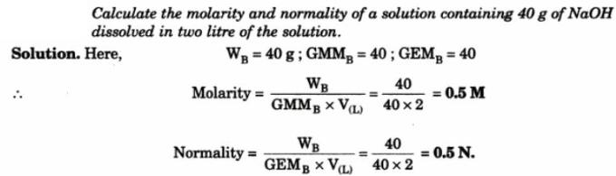 3 Calculate Molarity and Normality of Solution