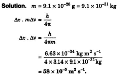3 Calculate the product of uncertainties of position