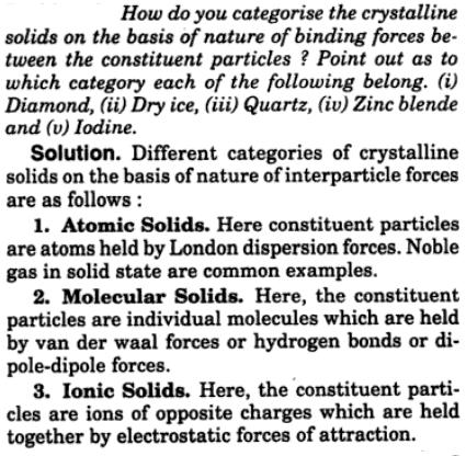 3 categorize the crystalline solids
