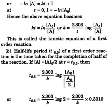 3 Derive the equation for rate constant