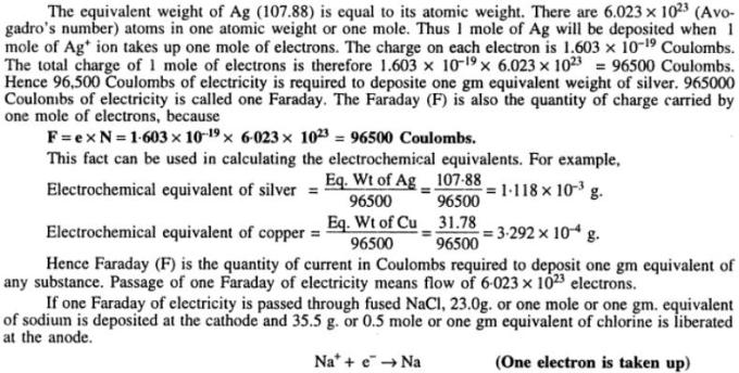 3 Faraday's Law of electrolysis