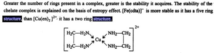 3 Greater the number of rings in a complex more stability