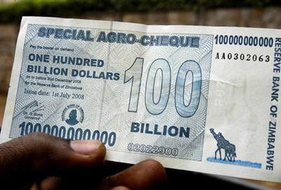 3 Hundred Billion Zimbawe Dollar